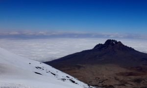 Mountains, clouds and snow Mt Kilimanjaro