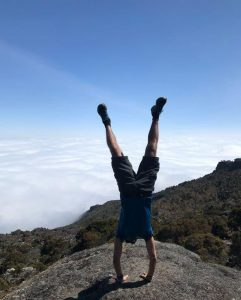 Handstand on Mt. Kilimanjaro