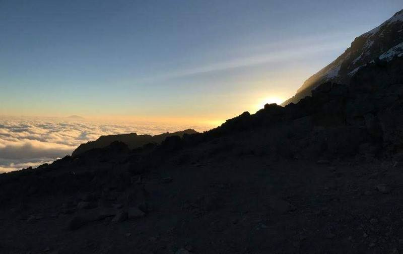 Sunset on Mt. Kilimanjaro