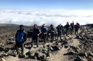 Hikers on Mt. Kilimanjaro