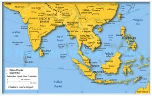 How to travel with little money A map of South East Asia