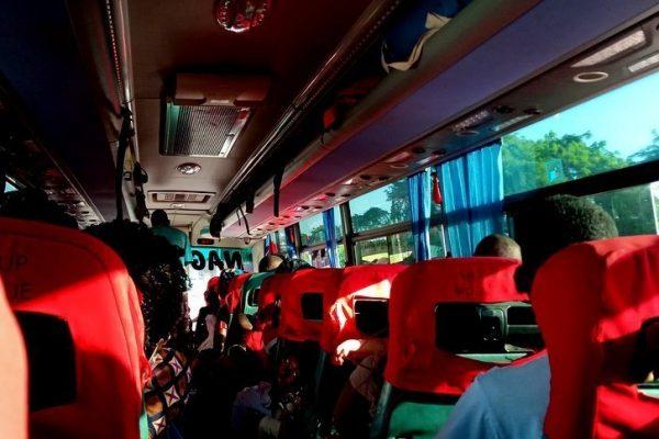 inside of bus