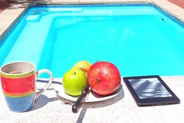 fruit by pool